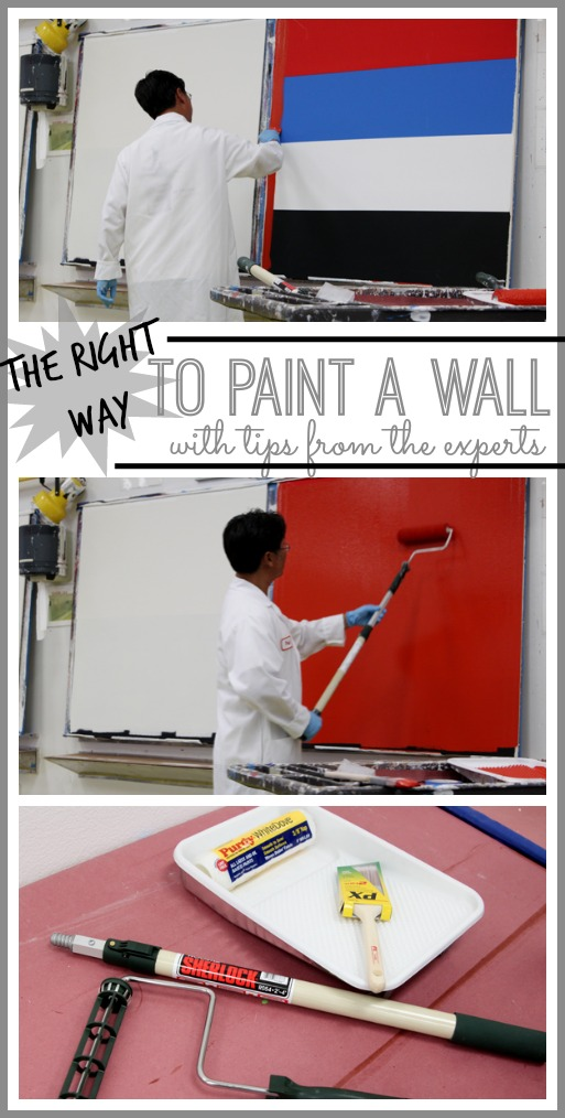 the right way to paint a wall