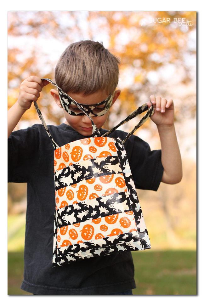 trick or treat no sew duck tape bag