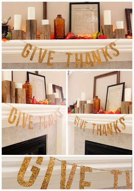 Give thanks thanksgiving craft banner