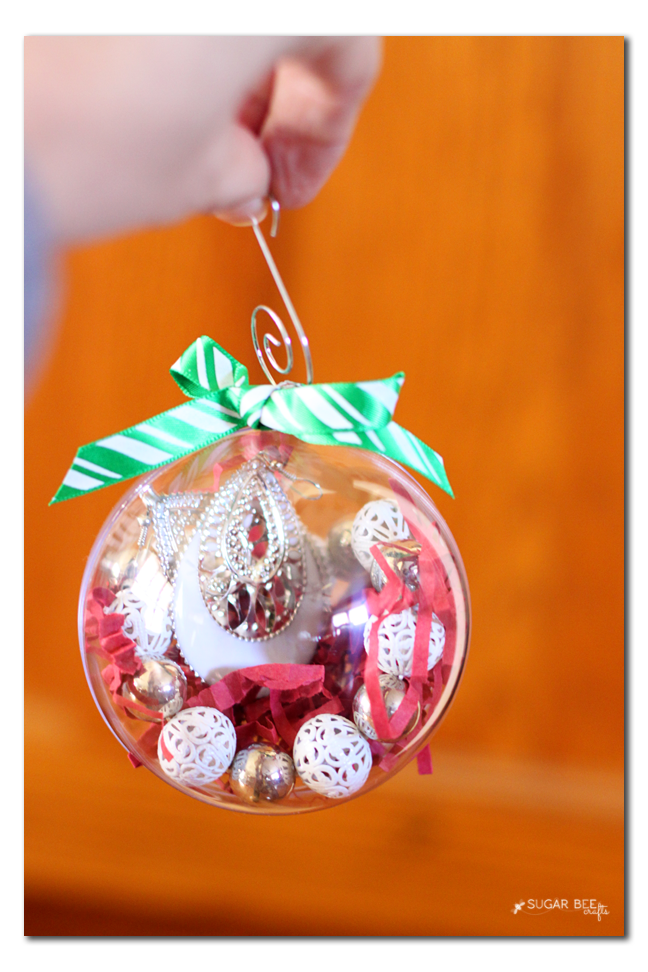 filled ornament for a gift