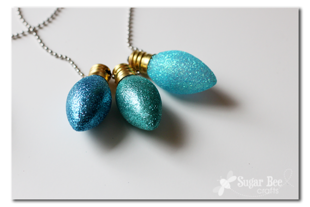 glitter bulb necklace