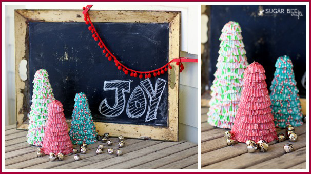holiday cupcake liner trees