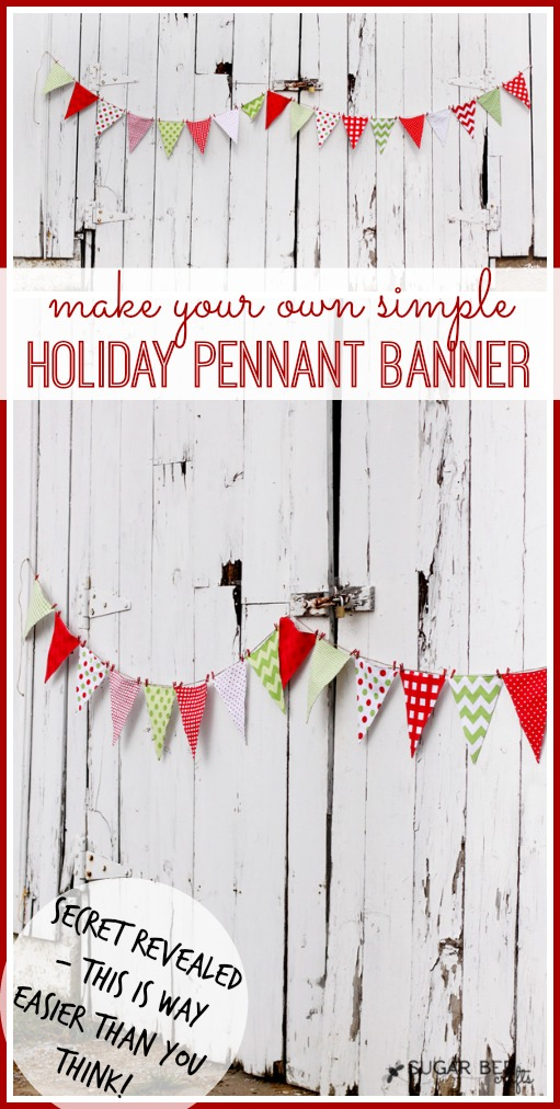 holiday pennant banner, how to make
