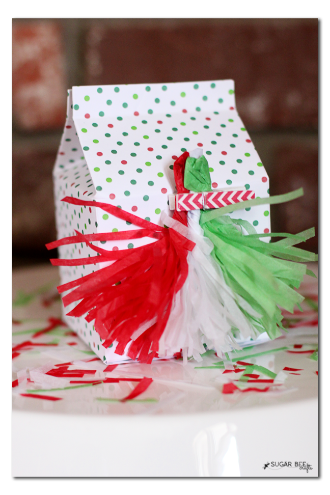 holiday tassle gift bow idea