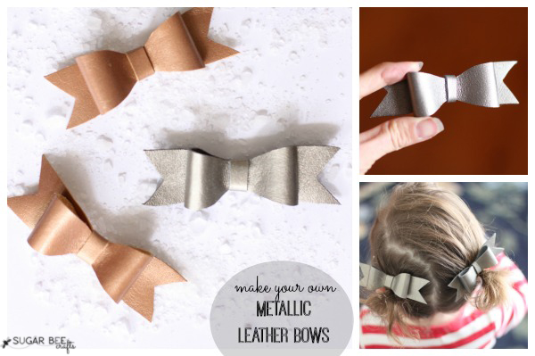 how to make your own leather bows