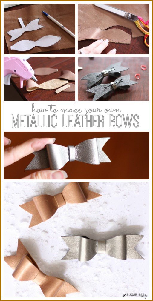 make your own leather bows