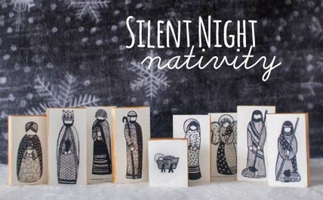 nativity wooden block
