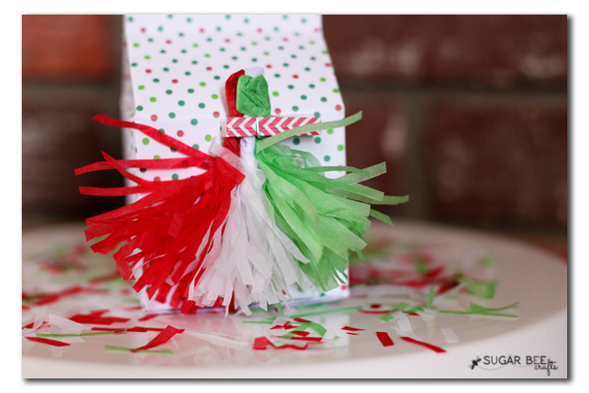 tissue paper tassle bow idea copy