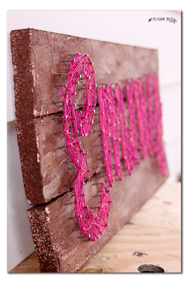 diy string art on foam wood boards