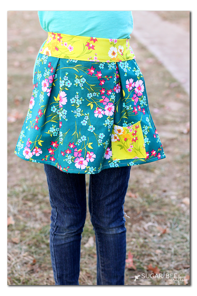 easy girls apron
