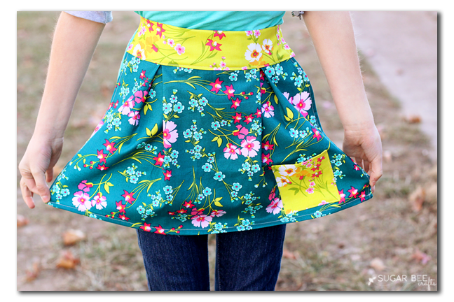 how to make a simple girl's apron