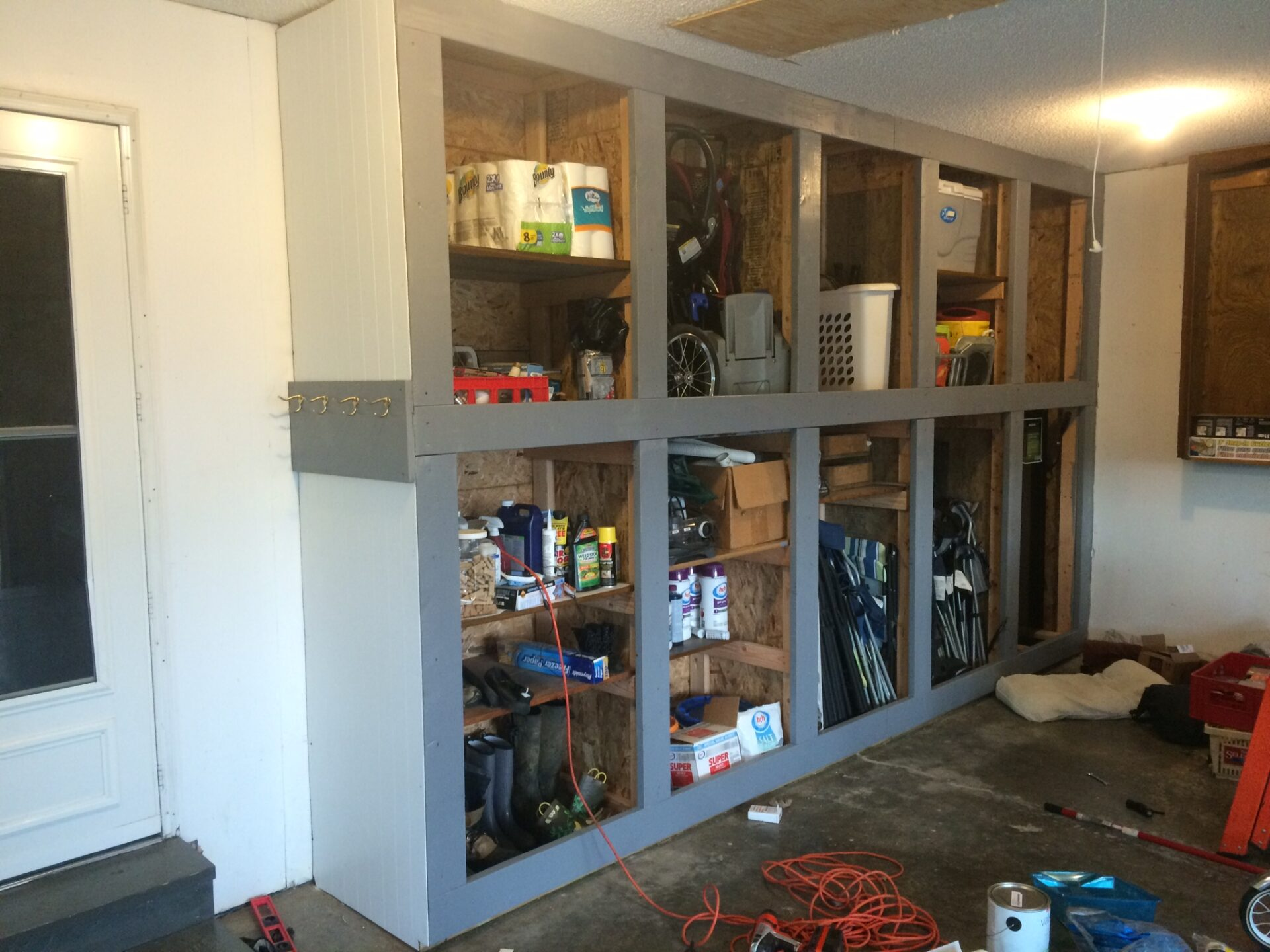 info diy with design sliding build cabinets in danielboonecabins doors garage built cabinet