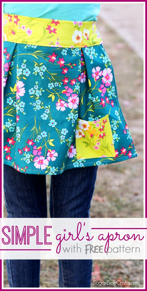 simple girl's apron free pattern