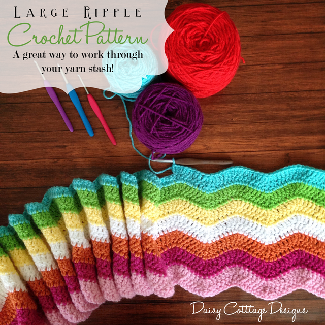 Easy-Ripple-Afghan-Pattern