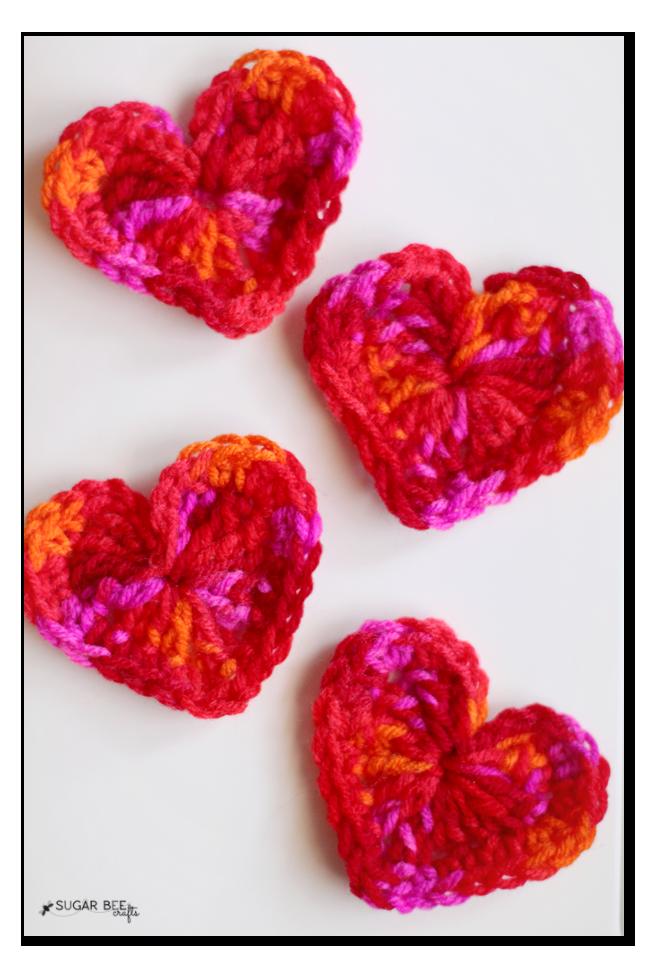 Crocheted Hearts And Yarn Organization Sugar Bee Crafts