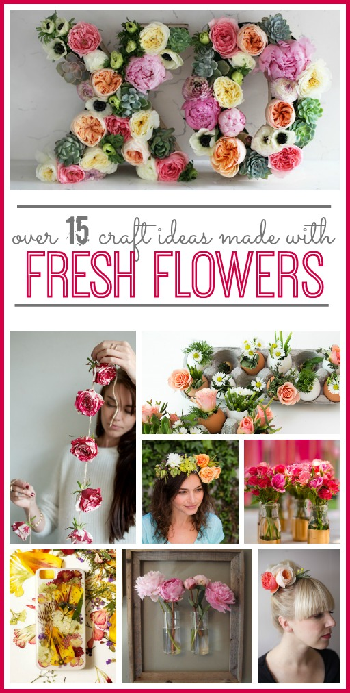 fresh flowers in crafts
