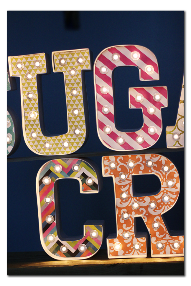 marquee letters paper embellish