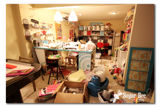 messy craft room 2