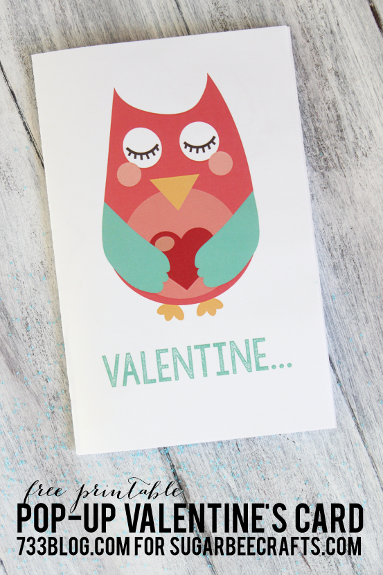 Owl Valentine Pop-Up Printable Card