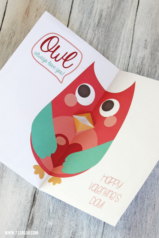 Free Printable Owl Valentine's Day Card