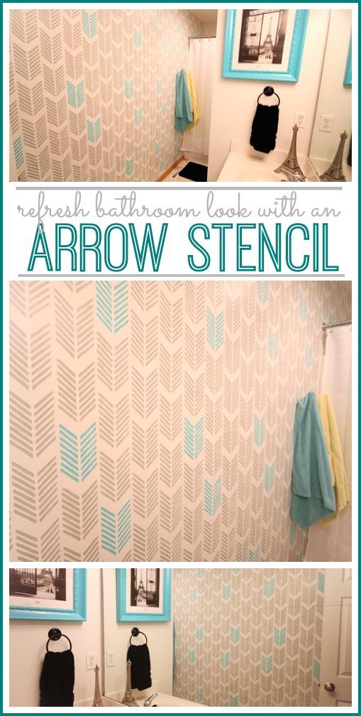 refresh bathroom look arrow stencil