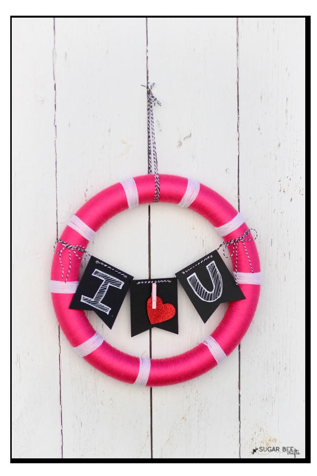 target valentine craft wreath supplies