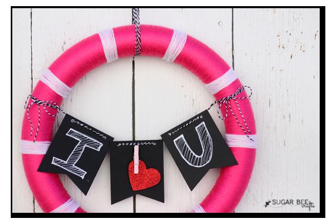 target valentine craft wreath