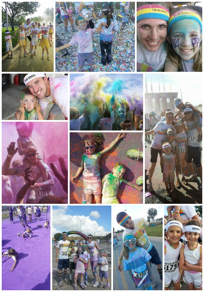 color run collage