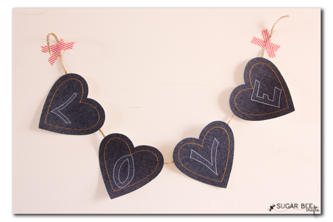 denim heart banner