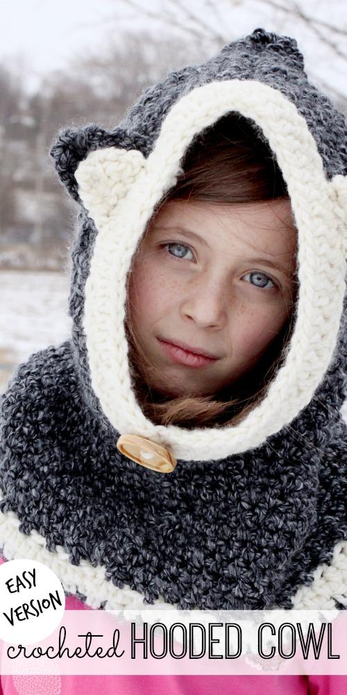 easy crocheted hooded cowl