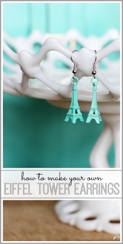 how to make your own eiffel tower earrings