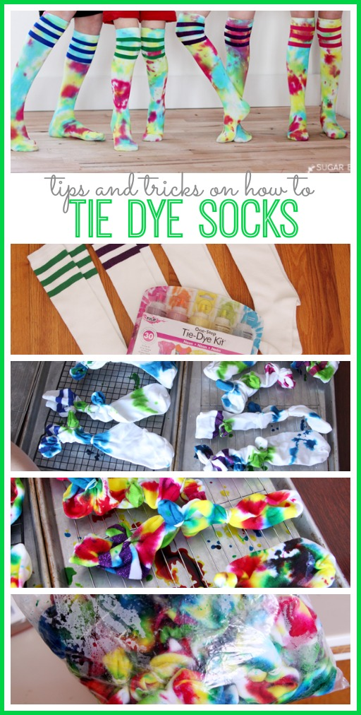 how to tie dye socks tips