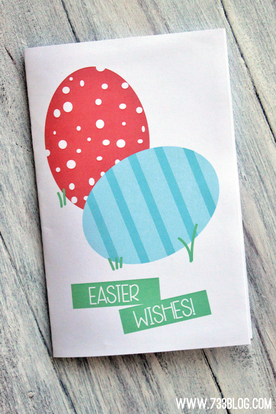 Printable Pop-Up Easter Card
