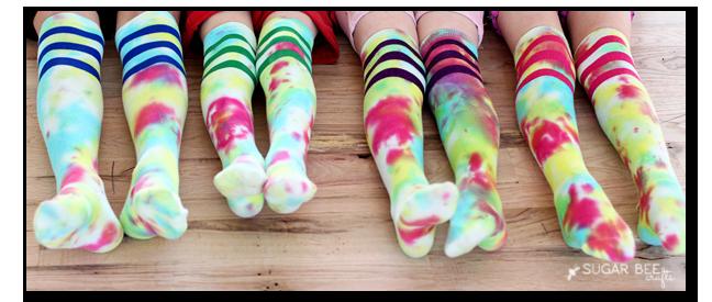 tie dye socks copy