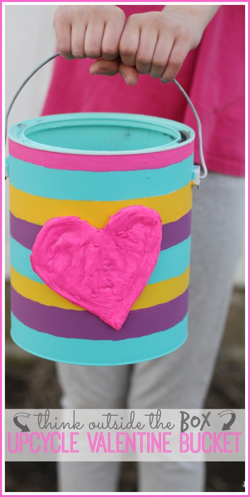 upcycle valentine bucket