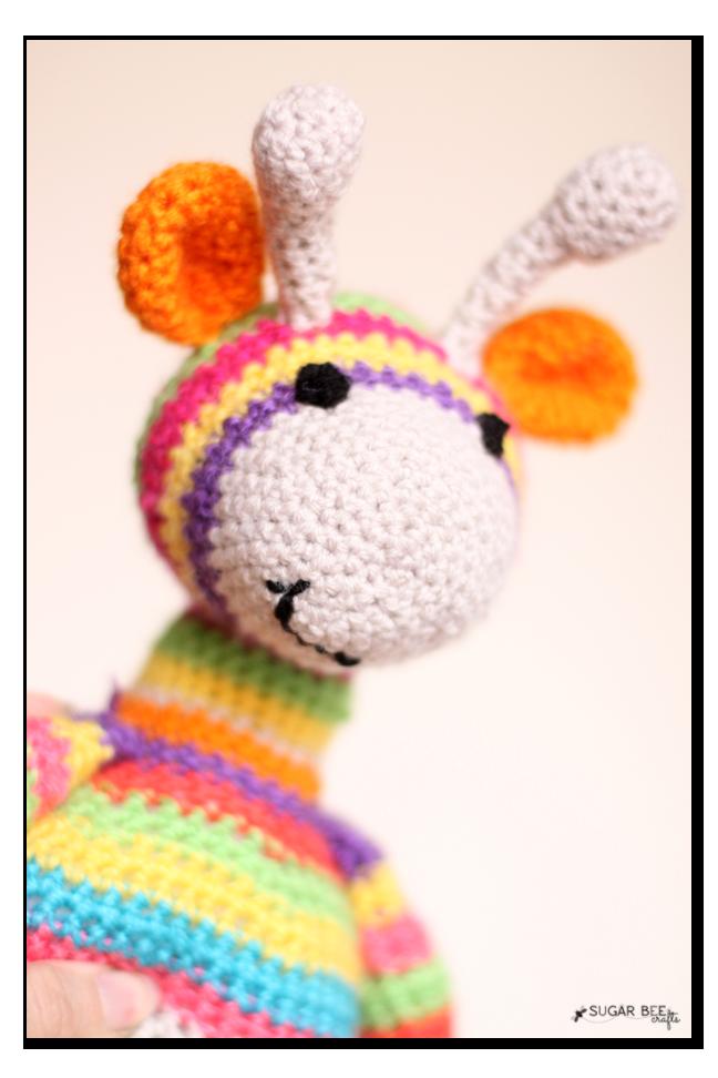 crochet giraffe face