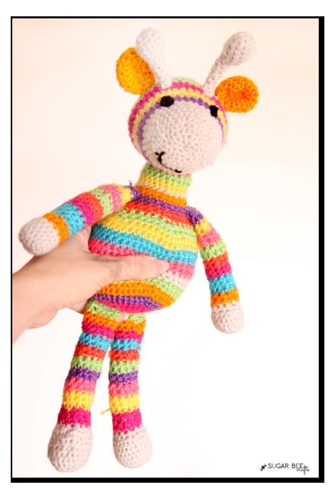 stuffed crochet giraffe