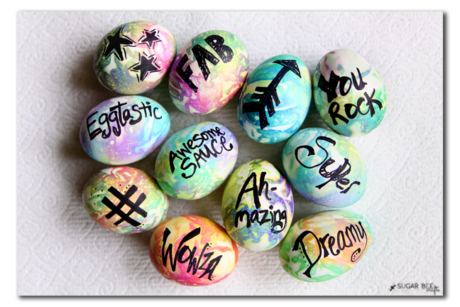 typography word easter eggs