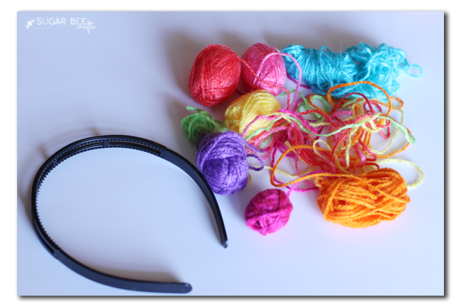 yarn scraps for headband