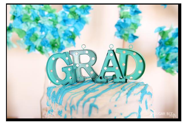diy graduation cake topper GRAD
