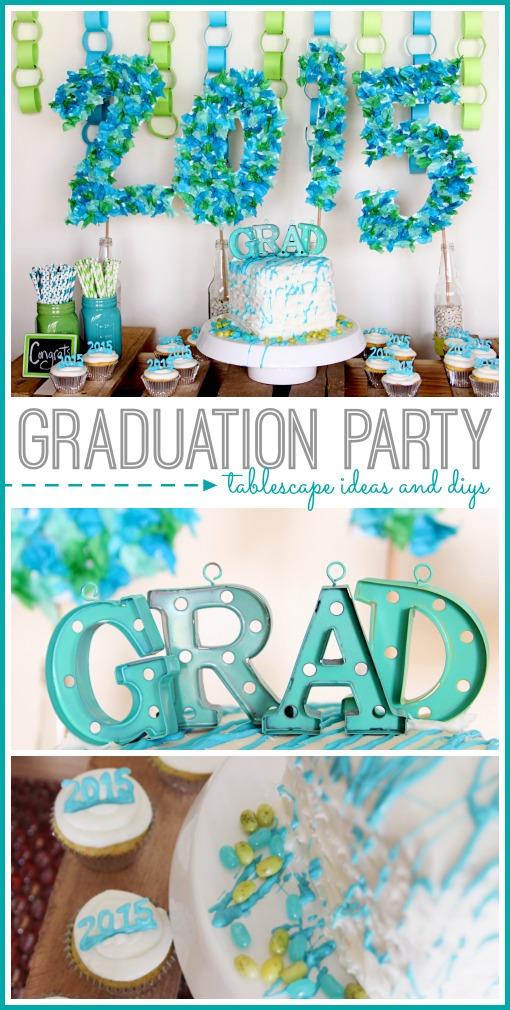 graduation party tablescape ideas