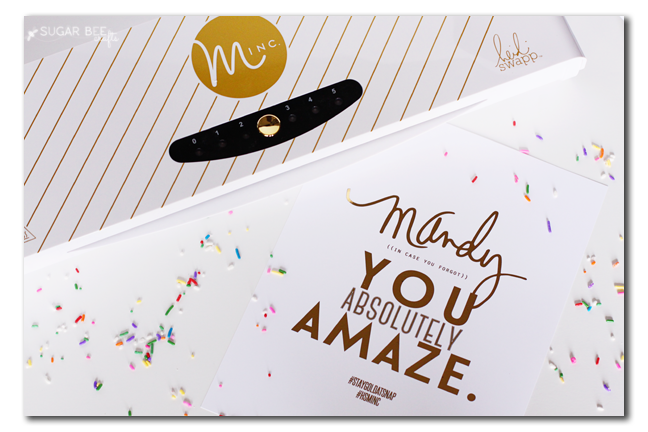 minc personalized gold foil
