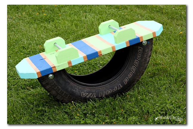 recycled tire teeter totter