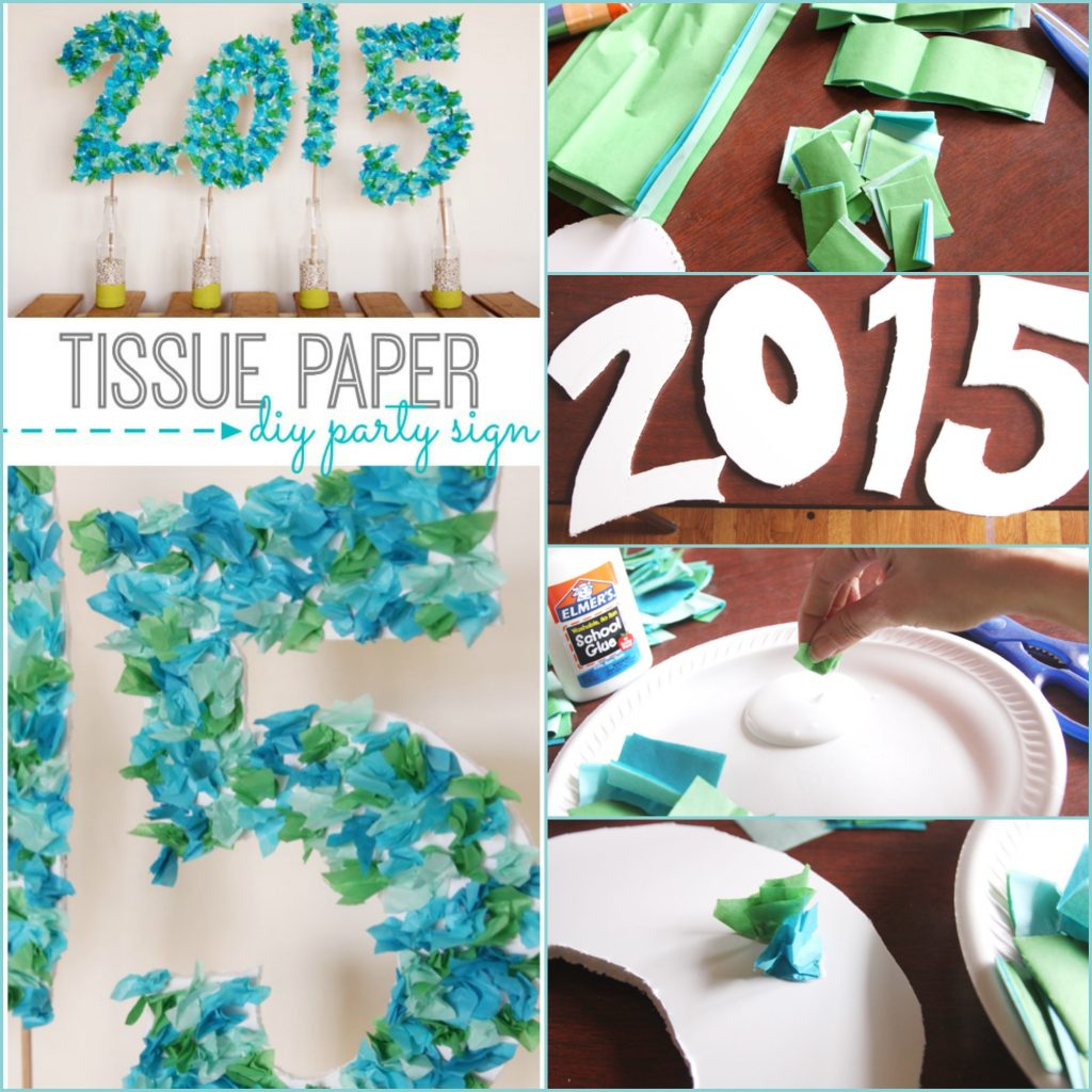 tissue paper large numbers sign