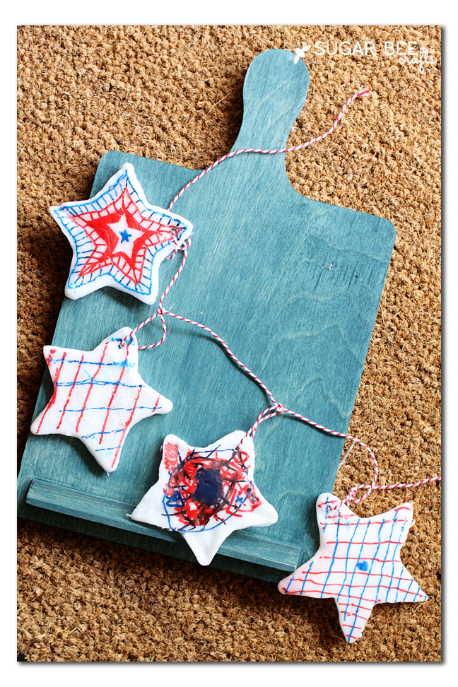 diy plastic star garland kids craft