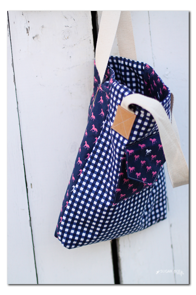 fabric mashup tote bag