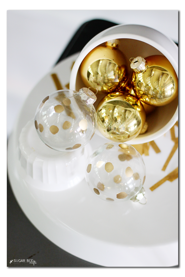 handmade ornament gold dot idea