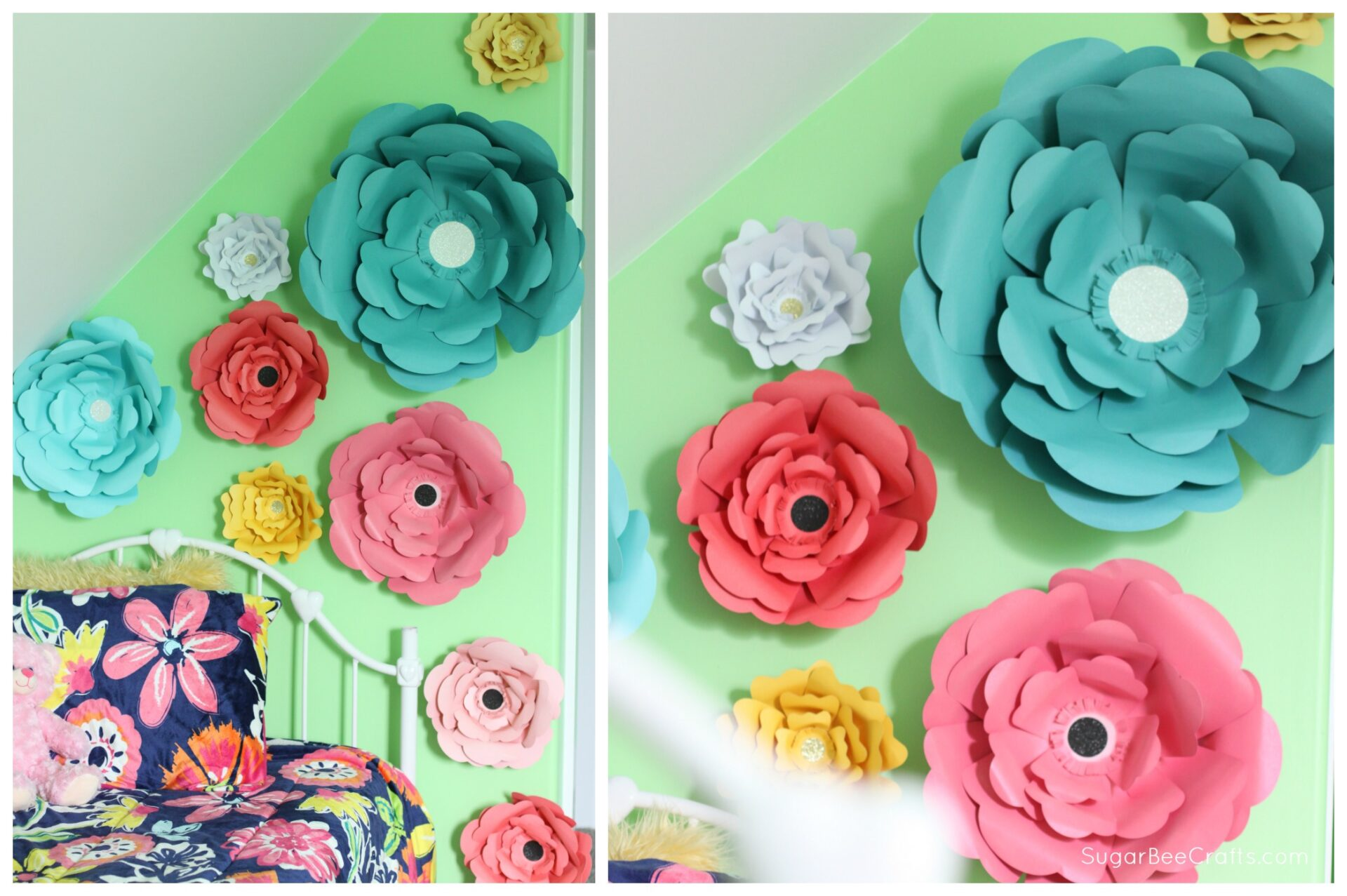 Big bloom paper flower wall decor sugar bee crafts for Decorative flowers for crafts