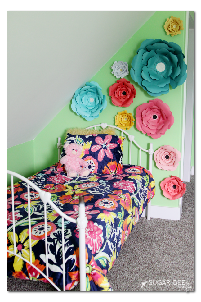paper flower focal wall