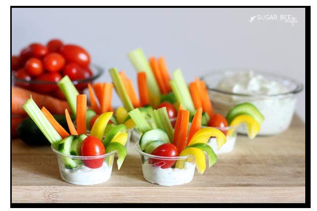 vegetable dip cups single serve